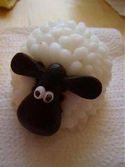 Homemade sheep soap